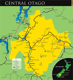 Central Otago Map